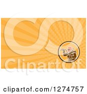 Clipart Of A Sandblaster And Orange Rays Business Card Design Royalty Free Illustration by patrimonio