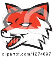 Clipart Of A Retro Fox Head Royalty Free Vector Illustration by patrimonio