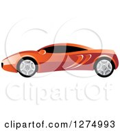 Clipart Of A Red Sports Car With Window Tint Royalty Free Vector Illustration