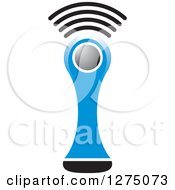 Clipart Of A Blue Medical Scanner Royalty Free Vector Illustration