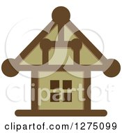 Clipart Of A Brown House Royalty Free Vector Illustration