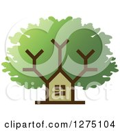Clipart Of A House Tree Royalty Free Vector Illustration by Lal Perera