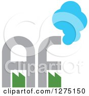Clipart Of A Factory Letter AF Logo Royalty Free Vector Illustration by Lal Perera