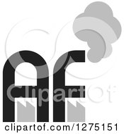 Clipart Of A Black And Silver Factory AF Logo Royalty Free Vector Illustration by Lal Perera