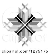 Clipart Of A Grayscale Cubic Design Royalty Free Vector Illustration by Lal Perera