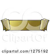 Clipart Of A Gold Ribbon Banner Royalty Free Vector Illustration by Lal Perera