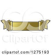 Clipart Of A Gold Ribbon Banner 2 Royalty Free Vector Illustration by Lal Perera