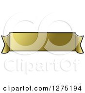 Clipart Of A Gold Ribbon Banner 3 Royalty Free Vector Illustration by Lal Perera