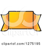 Clipart Of A Gradient Orange Ribbon Banner Royalty Free Vector Illustration by Lal Perera