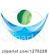 Clipart Of A 3d Blue And Green Abstract Person Royalty Free Vector Illustration by Lal Perera