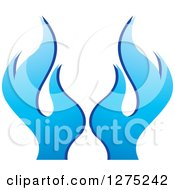 Clipart Of Blue Flames 2 Royalty Free Vector Illustration by Lal Perera