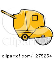 Clipart Of A Concrete Cutter Machine Royalty Free Vector Illustration by Lal Perera