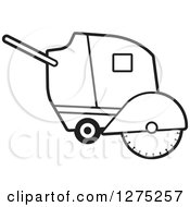 Clipart Of A Black And White Concrete Cutter Machine Royalty Free Vector Illustration by Lal Perera