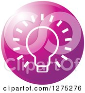 Clipart Of A Gradient Purple Light Bulb Icon Royalty Free Vector Illustration