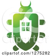 Clipart Of A Gradient Green Window Beetle Royalty Free Vector Illustration by Lal Perera