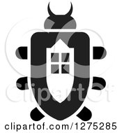 Clipart Of A Black And White Window Beetle Royalty Free Vector Illustration by Lal Perera