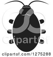 Clipart Of A Black And White Beetle Royalty Free Vector Illustration by Lal Perera