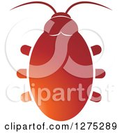 Clipart Of A Gradient Red Beetle Royalty Free Vector Illustration by Lal Perera