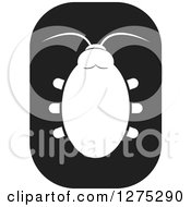 Clipart Of A Black And White Beetle Icon Royalty Free Vector Illustration by Lal Perera