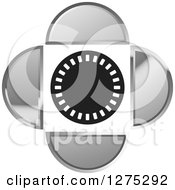 Clipart Of A Circle With Silver Designs Royalty Free Vector Illustration by Lal Perera