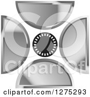 Clipart Of A Circle With Silver Designs 2 Royalty Free Vector Illustration by Lal Perera
