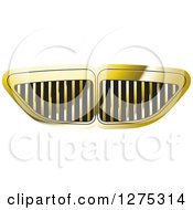 Clipart Of A Gold Grid Vent Or Grill Design Royalty Free Vector Illustration