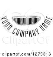 Clipart Of A Silver Grid Vent Or Grill Design With Sample Text Royalty Free Vector Illustration
