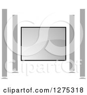 Clipart Of A Gray Sound System Royalty Free Vector Illustration