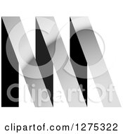 Clipart Of A Black And Silver Abstract NM Logo Royalty Free Vector Illustration