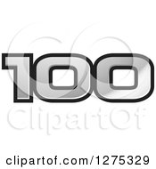 Clipart Of A Silver And Black 100 Royalty Free Vector Illustration