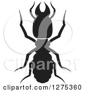 Clipart Of A Black Silhouetted Termite Royalty Free Vector Illustration by Lal Perera