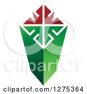 Clipart Of A Green Red And White Column Royalty Free Vector Illustration by Lal Perera