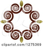 Clipart Of A Swirl And Flame Frame Royalty Free Vector Illustration by Lal Perera