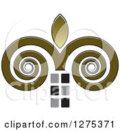 Clipart Of A Swirl And Flame Icon Royalty Free Vector Illustration by Lal Perera