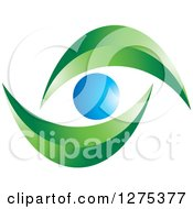 Clipart Of A Blue And Green Abstract Eye Royalty Free Vector Illustration by Lal Perera
