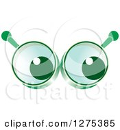 Clipart Of Eyes In Green Magnifying Glasses Royalty Free Vector Illustration by Lal Perera
