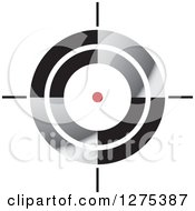 Clipart Of A Red Spot In A Target Royalty Free Vector Illustration by Lal Perera