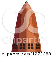 Clipart Of A Pencil Building Royalty Free Vector Illustration by Lal Perera
