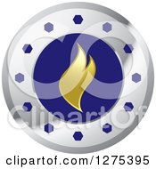 Clipart Of A Silver Wheel And Gold Flame Royalty Free Vector Illustration by Lal Perera