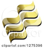 Clipart Of Gold Waves Royalty Free Vector Illustration