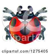Clipart Of A Cute Ladybug Royalty Free Vector Illustration by AtStockIllustration