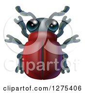 Clipart Of A Cute Beetle Bug Royalty Free Vector Illustration