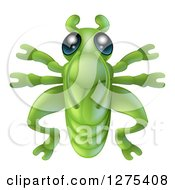 Clipart Of A Cute Grasshopper Bug Royalty Free Vector Illustration by AtStockIllustration