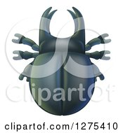Clipart Of A Cute Stag Beetle Royalty Free Vector Illustration by AtStockIllustration