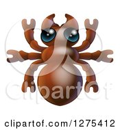 Clipart Of A Cute Ant Bug Royalty Free Vector Illustration by AtStockIllustration