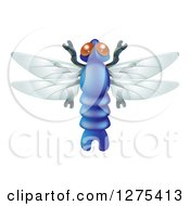 Clipart Of A Cute Dragonfly Bug Royalty Free Vector Illustration by AtStockIllustration