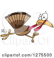 Scared Thanksgiving Turkey Bird Running