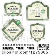 Clipart Of Money Shields And Design Elements Royalty Free Vector Illustration by BestVector