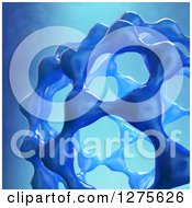 Clipart Of A 3d Fullerene Molecule On Blue Royalty Free Illustration by Mopic