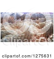 Clipart Of A Background Of 3d Skyscrapers Or Blocks Royalty Free Illustration
